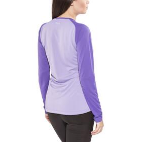Bergans Slingsby Camiseta de manga larga Mujer, soft lavender/funky purple/pumpkin